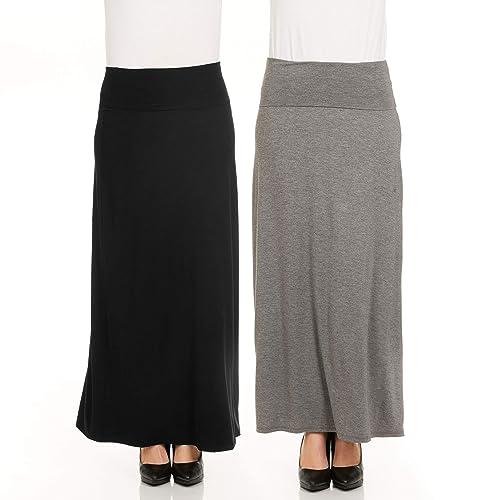 e0ae26c2042 X America Foldover Long Maxi Skirt Junior and Plus Size Maxi Skirts for  Women
