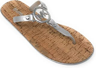 Michael Kors MK Charm Jelly Flip Flop Cork Bottom