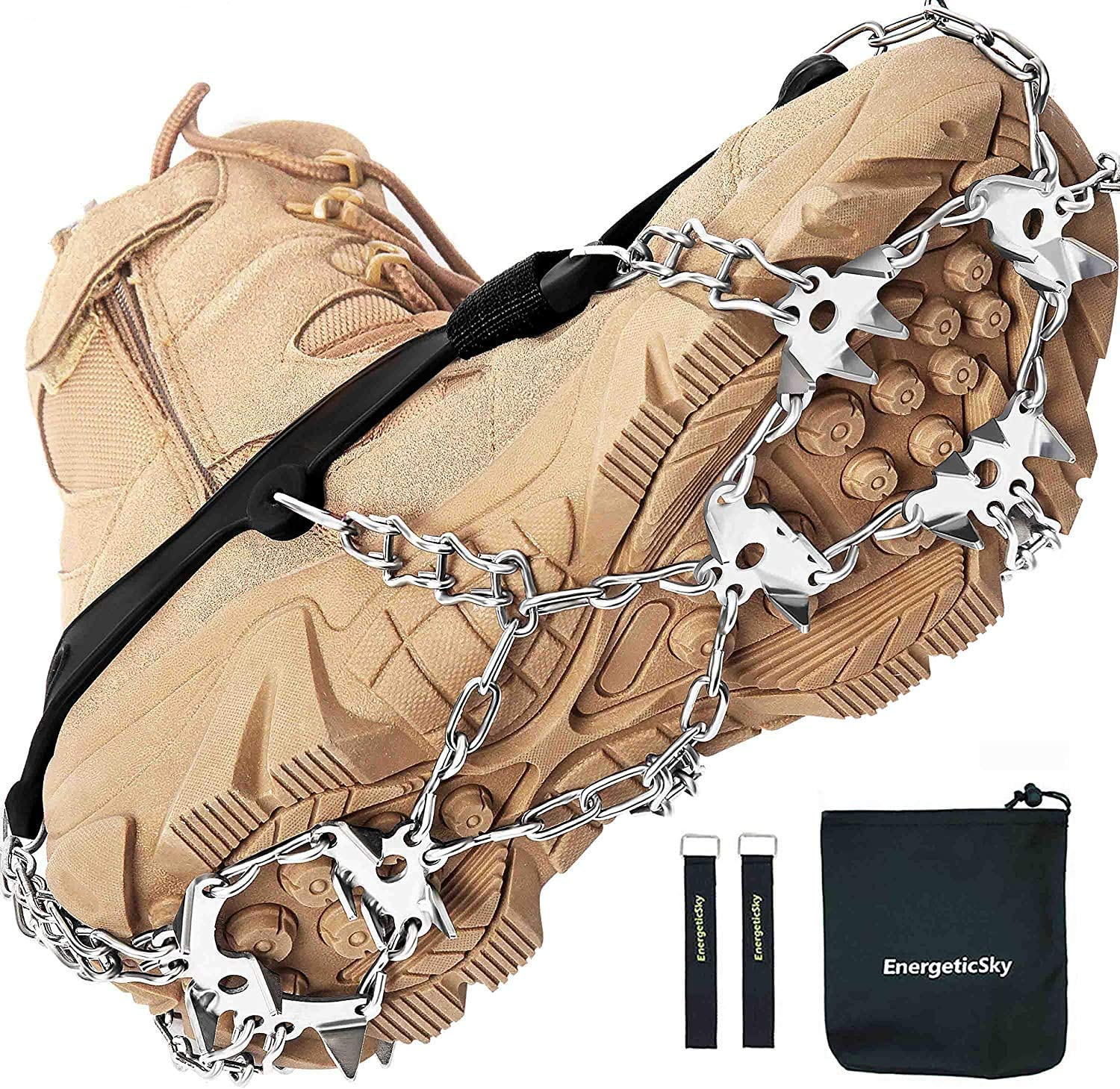 Austin Mall EnergeticSky 24 Spikes Crampons Limited Special Price Ice Grips f Cleats Traction Snow