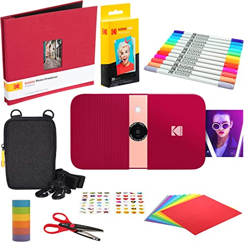 popular KODAK Smile Instant Print online sale Digital Camera (Red) Scrapbook sale Kit with Soft Case outlet sale