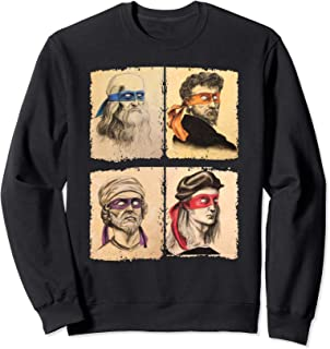 Renaissance Ninja Artists Poster Style Pop Art Sweatshirt