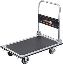 Meister Platformwagen - inklapbaar - tot 300 kg draagkracht - parkeerrem/transporthulp met zwenkwielen/pakketwagen met ant...