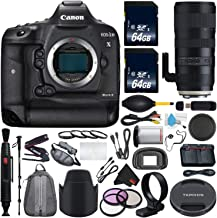Canon 6Ave EOS-1D X Mark II DSLR Camera International Version (No Warranty) + Tamron SP 70-200mm f/2.8 Di VC USD G2 Lens EF + Battery Grip Wildlife Sports Photography Bundle