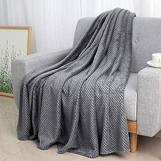 Lewondr Ultra Soft Luxury Flannel Velvet Throw Blanket All-Season Sheet Microfiber Plush Fleece Bed/Chair/Sofa/Couch Cover Blanket 40