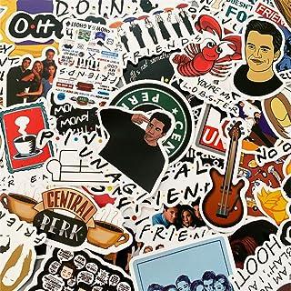 50 قطعة من ملصقات البرنامج التلفزيوني للأصدقاء ملصقات الكمبيوتر المحمول مقاومة للماء الفينيل ملصق الكمبيوتر والدراجة التزل...
