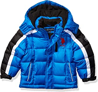 US Polo Association Boys' Toddler Bubble Jacket, Army...