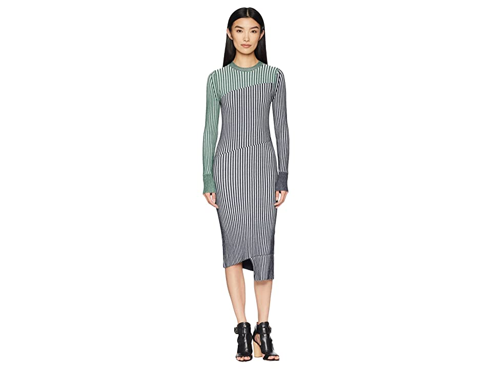 Sportmax Fify Knit Long Sleeve Dress (Green) Women