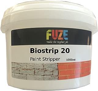 Biostrip 20Peinture Stripper 1litre, Décapant. Solution à base d'eau facilement à enlever Peinture et vernis à partir de bois, Brique, béton, métal, PVC, verre et bien plus encore