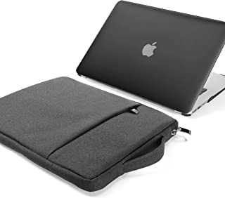 GMYLE MacBook Air 13 Inch Case A1466 A1369 Old Version 2010 2017 and 13 13.3 Inch Handle Carrying Sleeve Bag 2 in 1 Set (B...