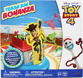 Disney Pixar Toy Story 4 Trash Bin Bonanza Game with Woody and Forky