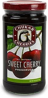 Chukar Cherries Sweet Cherry Preserves All-Natural Certified Kosher - Kof-K, Dairy Equipment 14.5 oz - 1 pack