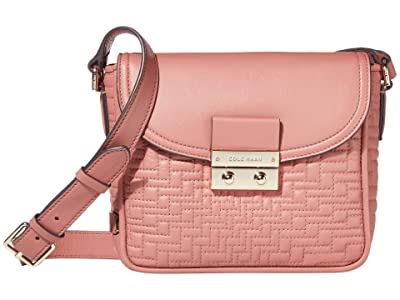 Cole Haan Lock Quilted Crossbody (Withered Rose) Handbags