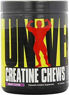 Universal Nutrition Creatine Chews - 5g of Creatine Monohydrate in Each Serving Delicious Wafers - 36 Servings - Grape