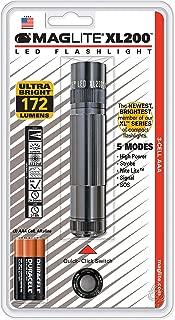 Maglite XL200 LED 3-Cell AAA Flashlight, Gray