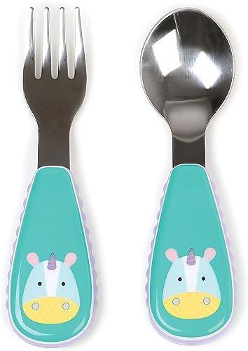 Skip Hop Toddler Utensils, Fork & Spoon Set, Eureka Unicorn