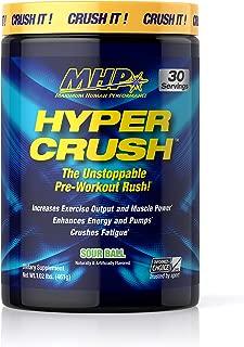 MHP Hyper Crush Pre Workout Energy Drink, creatine, beta Alanine, Nitric Oxide Pump, citrulline, AKG, Sour Ball, 30 Servings