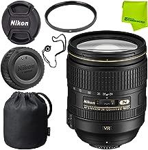 Nikon AF-S NIKKOR 24-120mm f/4G ED VR Lens Base Bundle (Renewed)