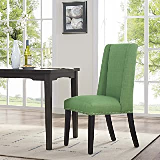 Modway MO-EEI-2233-GRN Baron Modern Tall Back Wood Upholstered Fabric, Dining Chair, Kelly Green