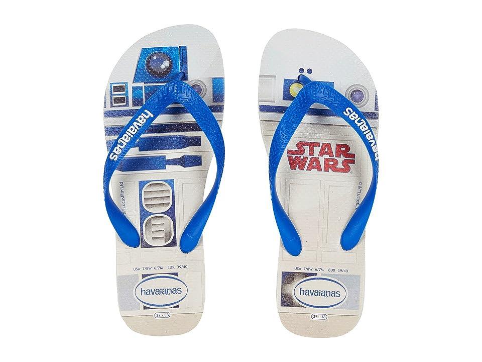 Havaianas Star Wars Flip-Flops (White/Blue Star) Women