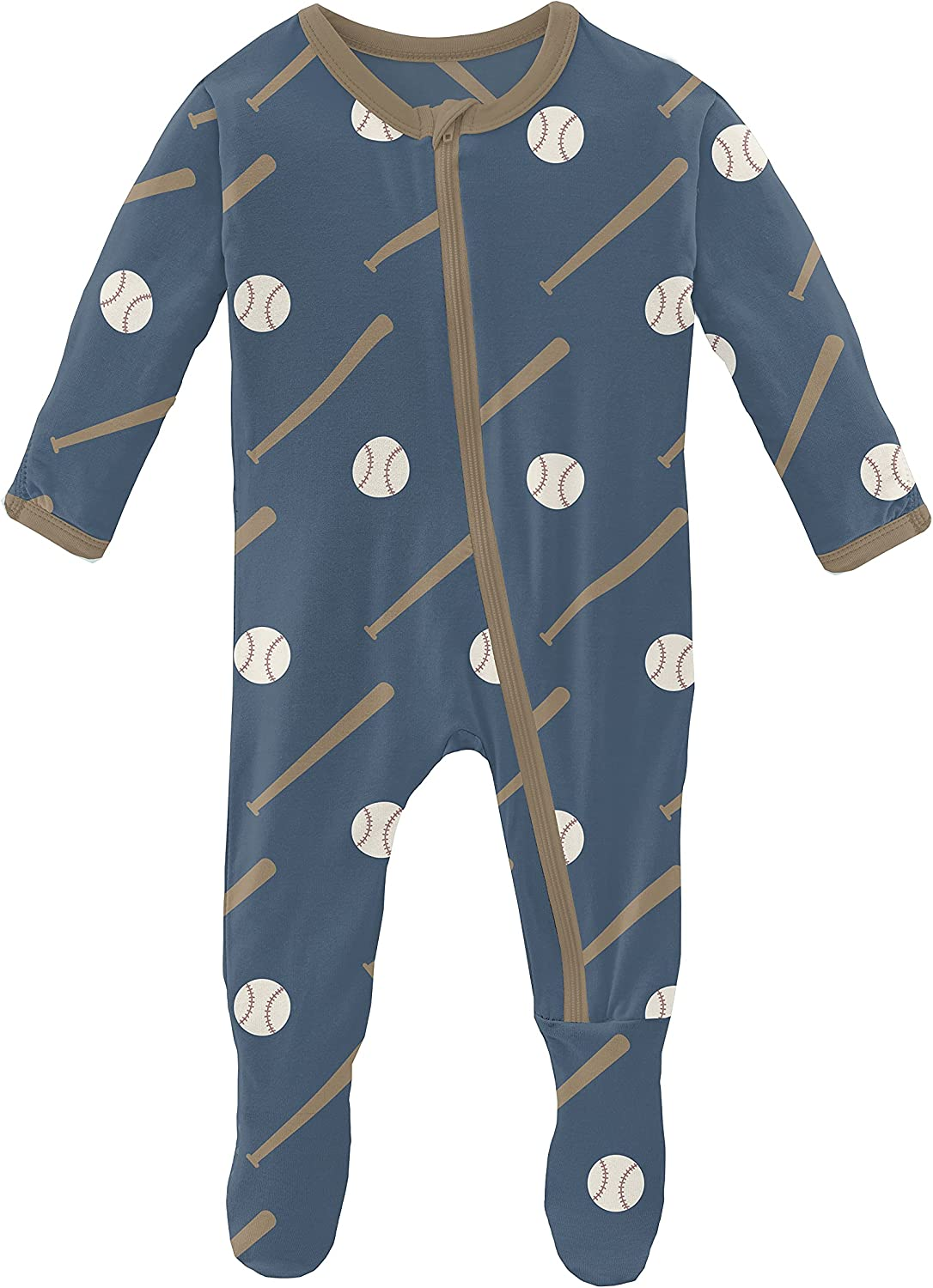 KicKee Pants Print Indianapolis Mall Footie with Zipper and Baby Dallas Mall Boys Clothes for