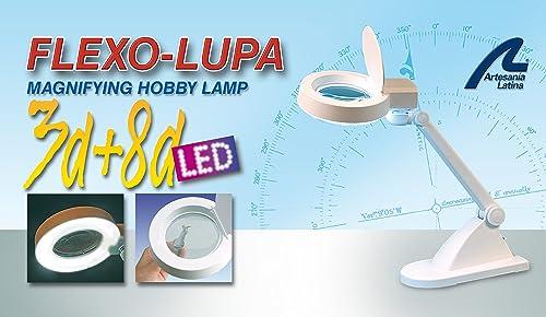 Flexo Desktop-Lupe mit 60 LED und 3 erh