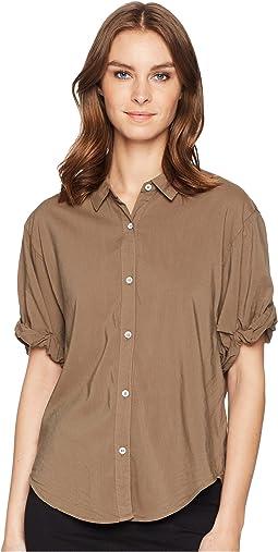 Cotton Voile Short Sleeve Boyfriend Shirt
