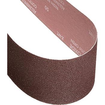 1 Width 48 Length VSM Abrasives Co. Aluminum Oxide VSM 142815 Abrasive Belt Fine Grade 1 Width 48 Length 320 Grit Brown Cloth Backing Pack of 10
