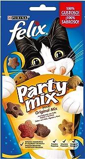 Purina Felix Party Mix Original Snacks, golosinas y chuches para gato 8 x 60 g