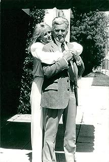 Vintage photo of Linda Evans together with John Forsythe
