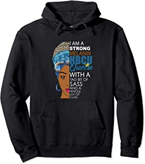Melanin HBCU Queen Afrocentric Hoodie for Black Women