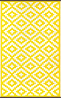 Best yellow striped outdoor rug Reviews