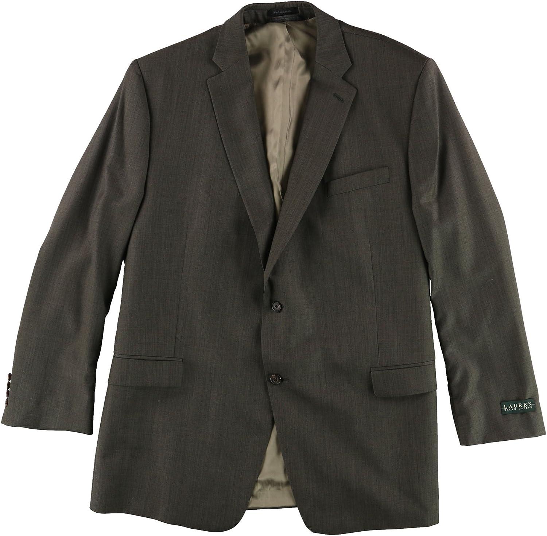 Ralph Lauren Mens Ultraflex Two Button Blazer Jacket, Green, 50 Long