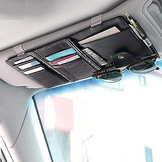 EcoNour Car Sun Visor Organizer- چرم PU- لوازم جانبی داخلی خودرو- کیف و کیف پول ذخیره سازی کیف پول برای ماشین- کارت ، خودکار ، عینک آفتابی و دارنده اسناد