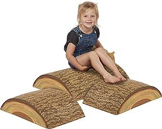 ECR4Kids SoftZone Tree Log Climber Play Set -3-Piece Climber Kit for Kids - 1 Medium and 2 Short Logs (3-Piece Set)