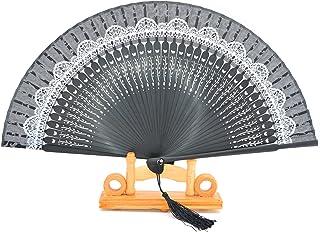 Seda con Hollow Out de encaje de bambú Mano plegable ventiladores con hecho a mano seda ventilador para bolsas y caja de regalo boda fiesta regalo para las niñas Mujeres