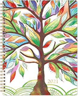 "2021 Planner - Weekly & Monthly Planner with Tabs, 8"" x 10"", Jan 2021 - Dec 2021, Contacts + Calendar + Holidays, Twin-Wir..."
