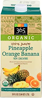 365 Everyday Value, Organic Pineapple Orange Banana Juice, 59 fl oz