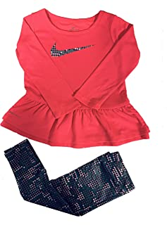 Nike Baby/Toddler Girl Peplum-Hem Tunic & Print Leggings Set