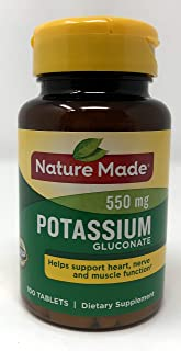 Nature Made Potassium Gluconate 550mg, 100 Count Pack of 2