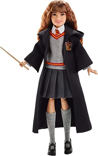 Harry Potter Poupée articulée Hermione Granger de 24 cm en uniforme Gryffondor en tissu avec baguette magique, à coll...