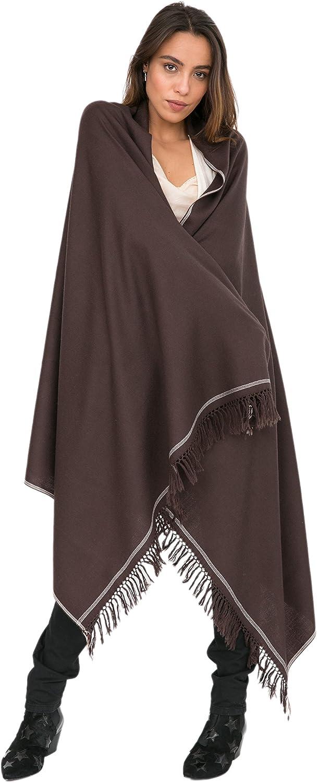 Shoreditch Merino Wool Shawl and Oversize Scarf 100 X 200cm
