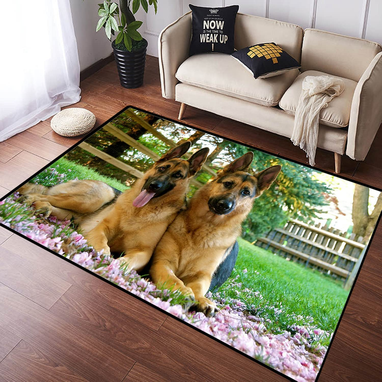 Portland Mall ZOMOY Long Floor Mat Carpet Cute Shepherd Dog German Pet Non-Sli Sales of SALE items from new works