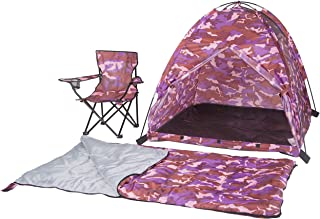 Pacific Play Tents 23333 Kids Pink Camo Dome Tent Set with Sleeping Bag and Chair