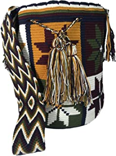 Wayuu Mochila Shoulder Bag - 100% Tribe Crochet Hand Crafted in Colombia -Cotton