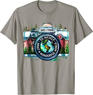 And I Think To Myself What A Wonderful World Camera Vintage T-Shirt