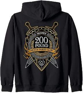 200 Pound Bench Press Club Member Celtic Shield Men Women Zip Hoodie