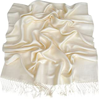 Ivory Solid Color Design Shawl Scarf Wrap Stole Throw Pashmina CJ Apparel NEW