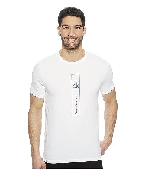 Calvin Vertical Wash Klein Neck Jeans Tee Logo Crew A7vqp7x
