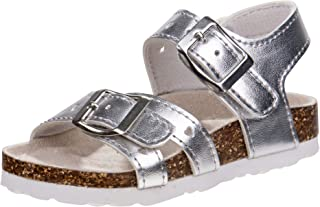 Laura Ashley Girls Footbed Buckle Sandals (Toddler)