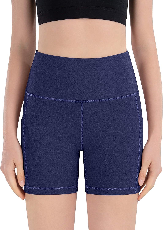 IKEEP Womens High Waist Yoga Shorts 8 //5 //2 Workout Running Shorts with Pockets for Women